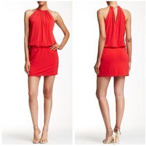 Jessica Simpson Gold Neck Red Mini Dress